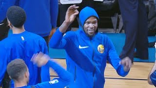 Kevin Durant Booed in 2nd Return to OKC & Starts Dancing! Warriors vs Thunder