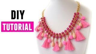 getlinkyoutube.com-How To Make A Statement Necklace  - DIY Jewelry making