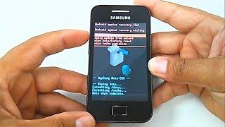 Hard Reset Samsung Galaxy Ace  GT-S5830, S5830i, S5830b, S5830c, Como Formatar, Desbloquear