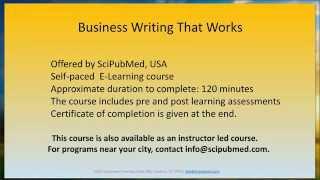 Business writing - SciPubMed.com