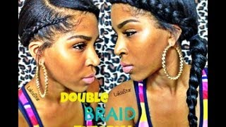 getlinkyoutube.com-Double Side Braid Tutorial w Clip ins:)
