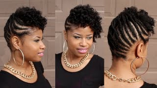 getlinkyoutube.com-Curly BRAIDED UPDO on NATURAL HAIR