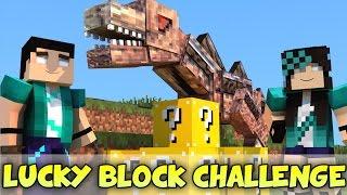 Minecraft com Namorada: NASTYSSAURUS CHALLENGE GAMES - Lucky Block Mod - Mini-Game com MODS