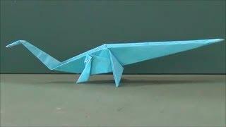 "getlinkyoutube.com-恐竜「セイスモサウルス」(地震竜)折り紙Dinosaur ""Diplodocus hallorum"" (earthquake dragon) origami"