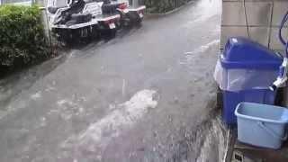 getlinkyoutube.com-2014.6.29 ゲリラ豪雨 歩道川