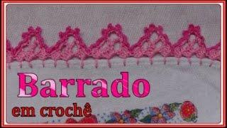 getlinkyoutube.com-Barrado em crochê para pano de prato fácil
