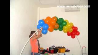 getlinkyoutube.com-decoracion con globos plaza sesamo