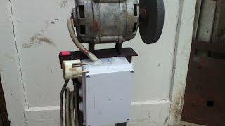 getlinkyoutube.com-Самодельный наждак из двигателя от стиральной машины