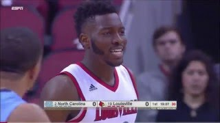 getlinkyoutube.com-#19 Louisville vs #2 North Carolina 2016 (Basketball Full Game)