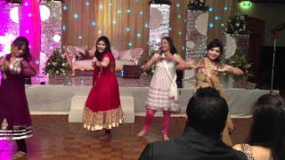 getlinkyoutube.com-Rocking Dance performance @ Divi's engagement!! Guys Don't laugh at our moves