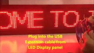 How to program LED Running message board using powerled with TFS5U controller