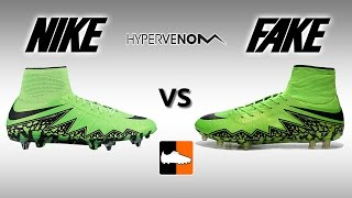 getlinkyoutube.com-Fake vs. Real Hypervenom Phantom II - How to avoid buying a Replica Nike Hypervenom