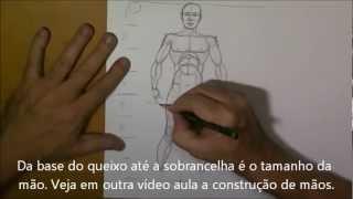 getlinkyoutube.com-Desenho do corpo masculino - esquema passo a passo - By Denis Basílio