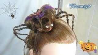 getlinkyoutube.com-peinado araña para halloween/hairstyle halloween spider/прическа Хэллоуин паук