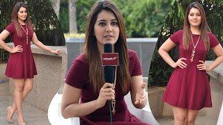 Rashi Khanna Singing Andamaina Lokam Song | IndiaGlitz Telugu Interview