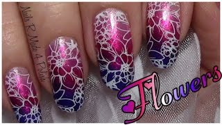 getlinkyoutube.com-Romantisches Blumen Stamping Nageldesign einfach selber machen / Valentinstag