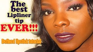 BEST LIP LINER TIP EVER│ Dark lipstick tutorial!