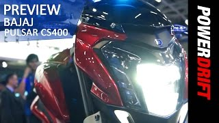 getlinkyoutube.com-Bajaj Pulsar CS 400 : First Look: PowerDrift