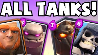 getlinkyoutube.com-Clash Royale ALL TANK TROLL DECK CHALLENGE (Can We Win With The Worst Deck?) | Giant Chest Opening