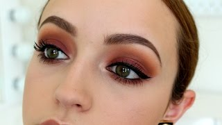 getlinkyoutube.com-Sunset Bitten Eyes- Makeup Tutorial