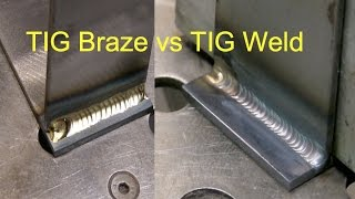Tig Brazing vs Tig Welding