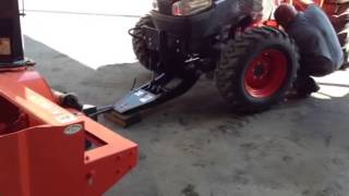 "getlinkyoutube.com-Kubota L4240HST-3 tractor with L2195 72"" snow blower instal"