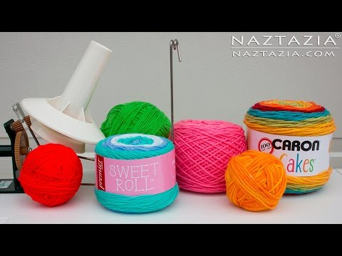 DIY Tutorial - Manage Yarn Storage - Wind Cakes Hank Center Pull Ball Skeins and More