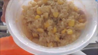 getlinkyoutube.com-【ダイソー】「レンジでごはん一合炊き」でカニの炊き込みごはんを作ってみた。