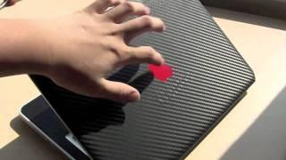 getlinkyoutube.com-Carbon Fiber Macbook Skin Review! SICK!!