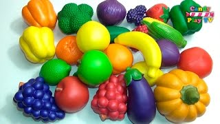 getlinkyoutube.com-Learn Names of Fruits and Vegetables With Toy | Kids learning fruits vegetables | Preschool Learning