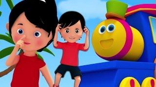 getlinkyoutube.com-tête épaules genoux et orteils | Bob le train | Enfants rimes | Body Parts Song | Head Shoulders