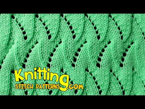 Flame Chevron | Lace Knitting #17