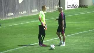 Ter Stegen training before Champions League final   weloba.com