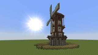 getlinkyoutube.com-Minecraft Tutorial - Windmühle bauen - build a Windmill #1
