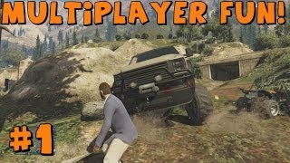 getlinkyoutube.com-Grand Theft Auto 5   Sandking, ATV and Bulldozer Fun! Feat. EKDrifter458 and Bentonator101
