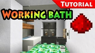 Too Small Place for Bathroom? Solution + Working Bathtub / redstone / Tutorial / Minecraft