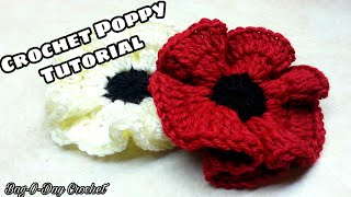 getlinkyoutube.com-CROCHET How to #Crochet Easy Poppy Flower #TUTORIAL #138