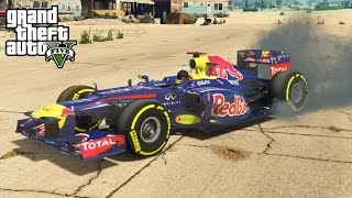getlinkyoutube.com-★ GTA 5 - EPIC Red Bull F1 Car Mod! Speed Test, Off-Roading, & More! (GTA V PC Mods)