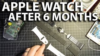 getlinkyoutube.com-Scratches on Apple Watch Space Black Stainless Steel band and Leather Loop Band - 6 Month Check-In