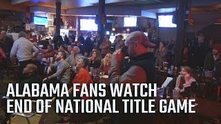 getlinkyoutube.com-Alabama fans watch the end of the 2017 National Championship game