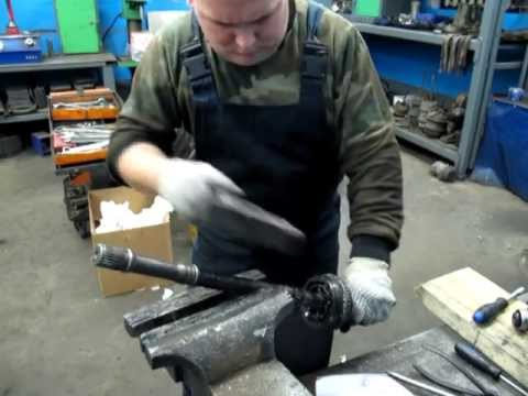 Снятие ШРУСа (гранаты) с вала, разборка ШРУСа toyota