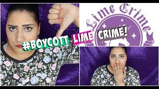 getlinkyoutube.com-♥♡ LIME CRIME CONTROVERSY 2015: INFO+ MY THOUGHTS♥♡