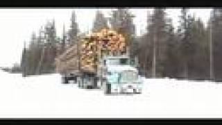 getlinkyoutube.com-Winter log hauling in northern B.C.