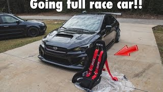 getlinkyoutube.com-2015 WRX - INSTALLING SPARCO RACING SEATS, SPARCO HARNESS, HARNESS BAR