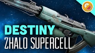 DESTINY Zhalo Supercell Fully Upgraded Exotic Auto Rifle Review (The Taken King Exotic)