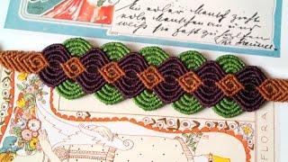 getlinkyoutube.com-A Colorful Macrame Bracelet