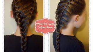 getlinkyoutube.com-Waterfall Twist Ladder Braid Hairstyle, School Hairstyles