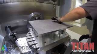 Titan machining cool gear housing with Inventor HSM