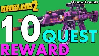 getlinkyoutube.com-Top 10 Best Quest and Mission Reward Guns and Weapons in Borderlands 2 #PumaCounts