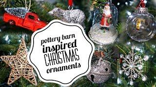 getlinkyoutube.com-DIY Christmas Ornaments | Pottery barn inspired | VLOGMAS | Beeisforbudget